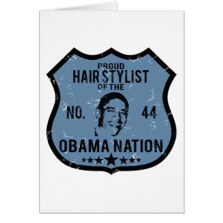 Hair Stylist Obama Nation Card