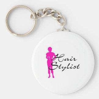 Hair Stylist (Pink) Keychain