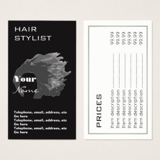 Hair Stylist Prices Business Cards