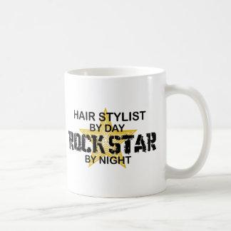 Hair Stylist Rock Star by Night Classic White Coffee Mug