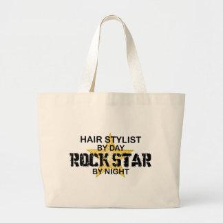 Hair Stylist Rock Star by Night Jumbo Tote Bag