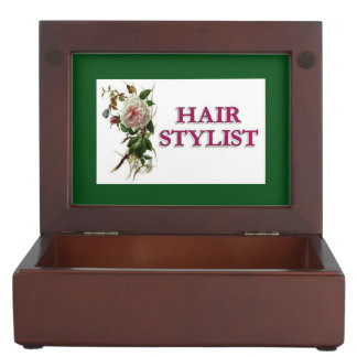 Hair Stylist Rose Memory Boxes