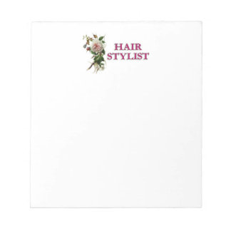 Hair Stylist Rose Notepads