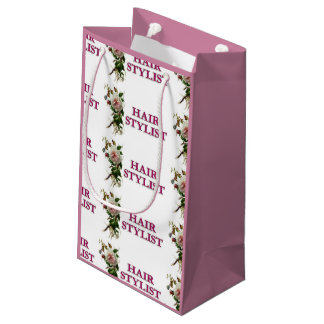 Hair Stylist Rose Small Gift Bag