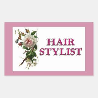 Hair Stylist Rose Sticker