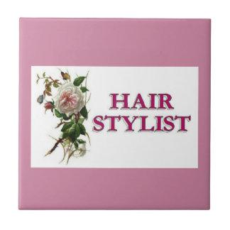 Hair Stylist Rose Tile