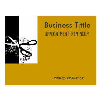 Hair stylist Salons  Spa Appointment Reminder Postcard