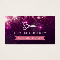 Hair stylist business cards business card printing zazzle ca hair stylist business cards hair stylist scissors pink purple glitter colourmoves