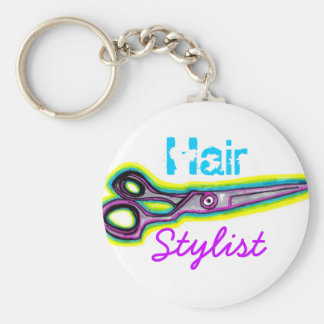 Hair Stylist Shears Keychain