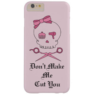 Hair Stylist Skull & Scissor Crossbones - Pink #4 Barely There iPhone 6 Plus Case