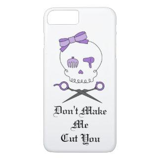 Hair Stylist Skull & Scissor Crossbones - Purple 3 iPhone 7 Plus Case