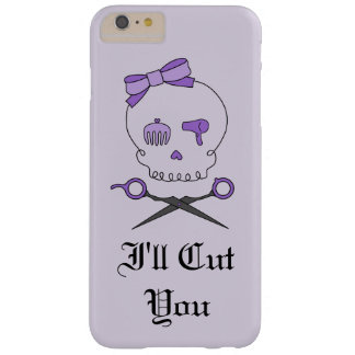 Hair Stylist Skull & Scissor Crossbones - Purple 6 Barely There iPhone 6 Plus Case