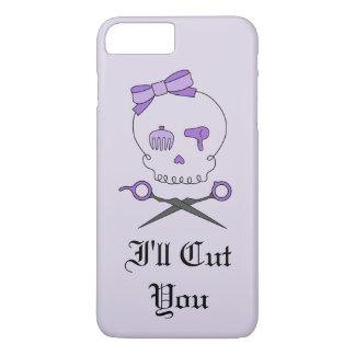 Hair Stylist Skull & Scissor Crossbones - Purple 6 iPhone 7 Plus Case