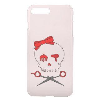 Hair Stylist Skull & Scissor Crossbones - Red 2 iPhone 7 Plus Case