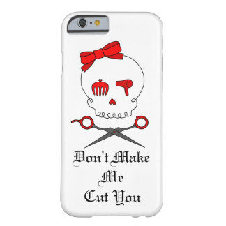 Hair Stylist Skull & Scissor Crossbones - Red #3 Barely There iPhone 6 Case