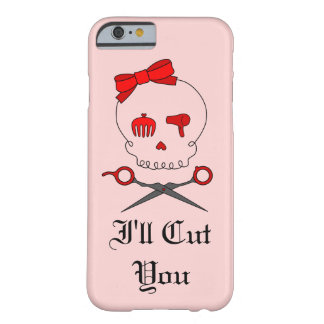 Hair Stylist Skull & Scissor Crossbones - Red #6 Barely There iPhone 6 Case