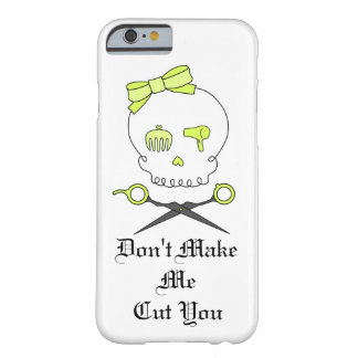 Hair Stylist Skull & Scissor Crossbones - Yellow 3 Barely There iPhone 6 Case