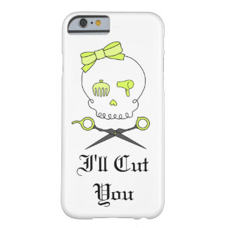 Hair Stylist Skull & Scissor Crossbones - Yellow 5 Barely There iPhone 6 Case
