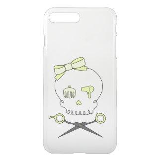 Hair Stylist Skull & Scissor Crossbones - Yellow iPhone 7 Plus Case