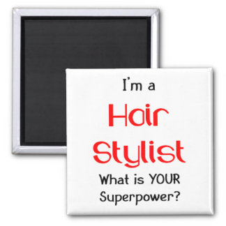 Hair stylist square magnet