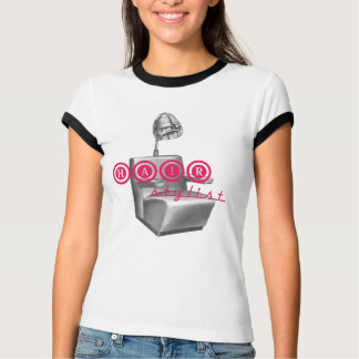 Hair Stylist Vintage Dryer Ringer Tee