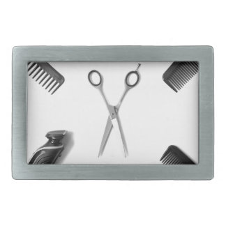 Hair Stylists Rectangular Belt Buckle