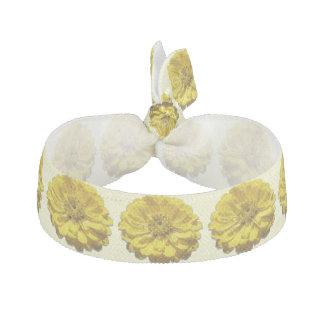 Hair Tie/Bracelet - Yellow Zinnia Hair Tie
