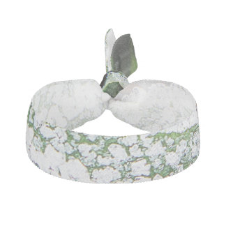 Hair tie ice on green background
