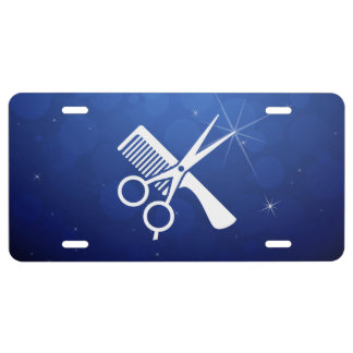 Hair Trimmers Pictograph License Plate