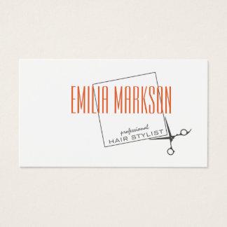 Haircut Stylist Scissors Box Simple White Card