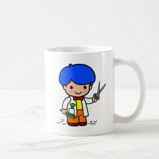 Hairdresser Boy Basic White Mug