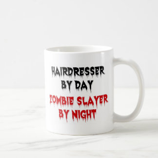 Hairdresser by Day Zombie Slayer by Night Classic White Coffee Mug