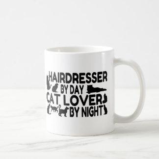 Hairdresser Cat Lover Basic White Mug
