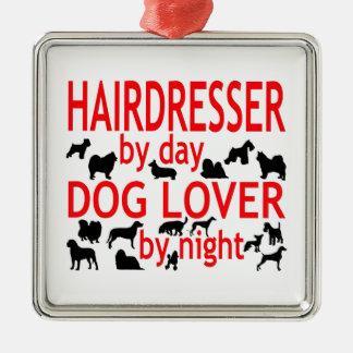 Hairdresser Dog Lover Metal Ornament