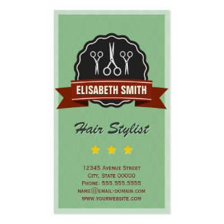 Hairdresser Hairstylist - Retro Vintage Double-Sided Standard Business Cards (Pack Of 100)