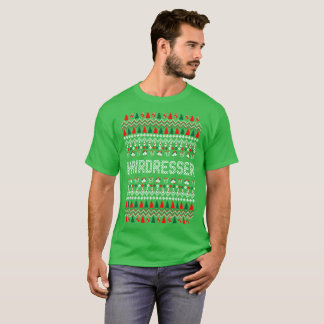 Hairdresser Hairstylist Ugly Christmas Sweater Tee
