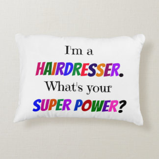 Hairdresser Humor Decorative Pillow