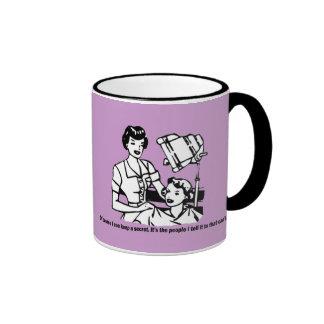 Hairdresser Humor - Of course I can keep a secret Ringer Mug