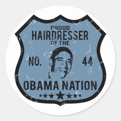 Hairdresser Obama Nation Sticker