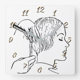 Hairdresser Square Wall Clock