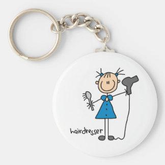 Hairdresser Stick Figure Key Chains