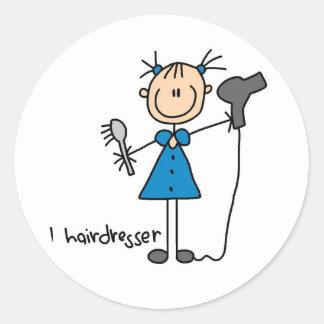 Hairdresser Stick Figure Sticker