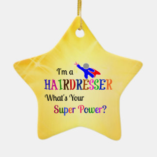 Hairdresser Super Power Ceramic Ornament