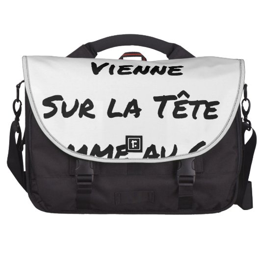 HAIRDRESSER, THAT YOUR VIENNA COMB ON THE HEAD LAPTOP MESSENGER BAG