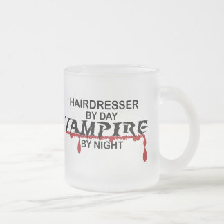 Hairdresser Vampire by Night Frosted Glass Mug