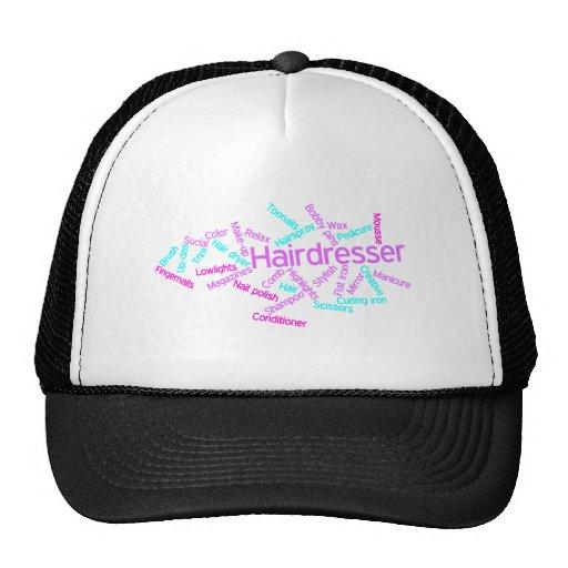 Hairdresser Word Cloud Hat