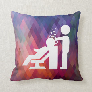 Hairdresser Works Pictogram Throw Pillow