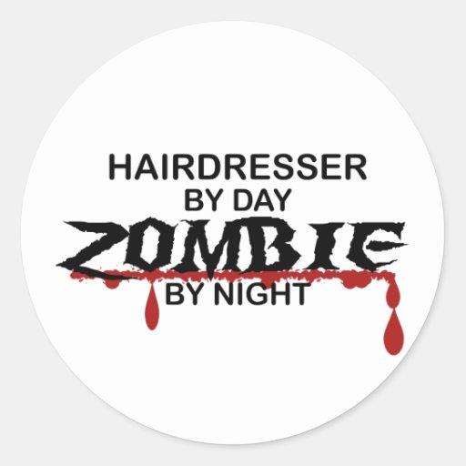 Hairdresser Zombie Stickers