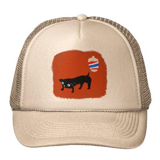Hairdresser's black dog hats