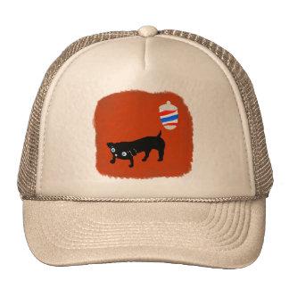 Hairdresser's black dog trucker hat